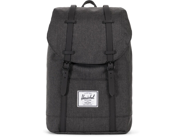 Herschel Retreat Selkäreppu 19,5l, black crosshatch/black